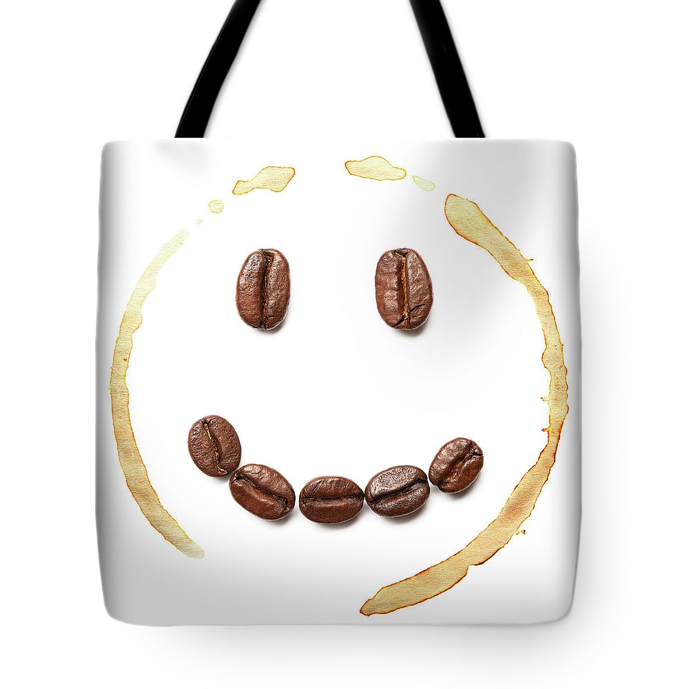 Spray Tote Bag featuring the photograph Smile Coffee Beans by T kimura