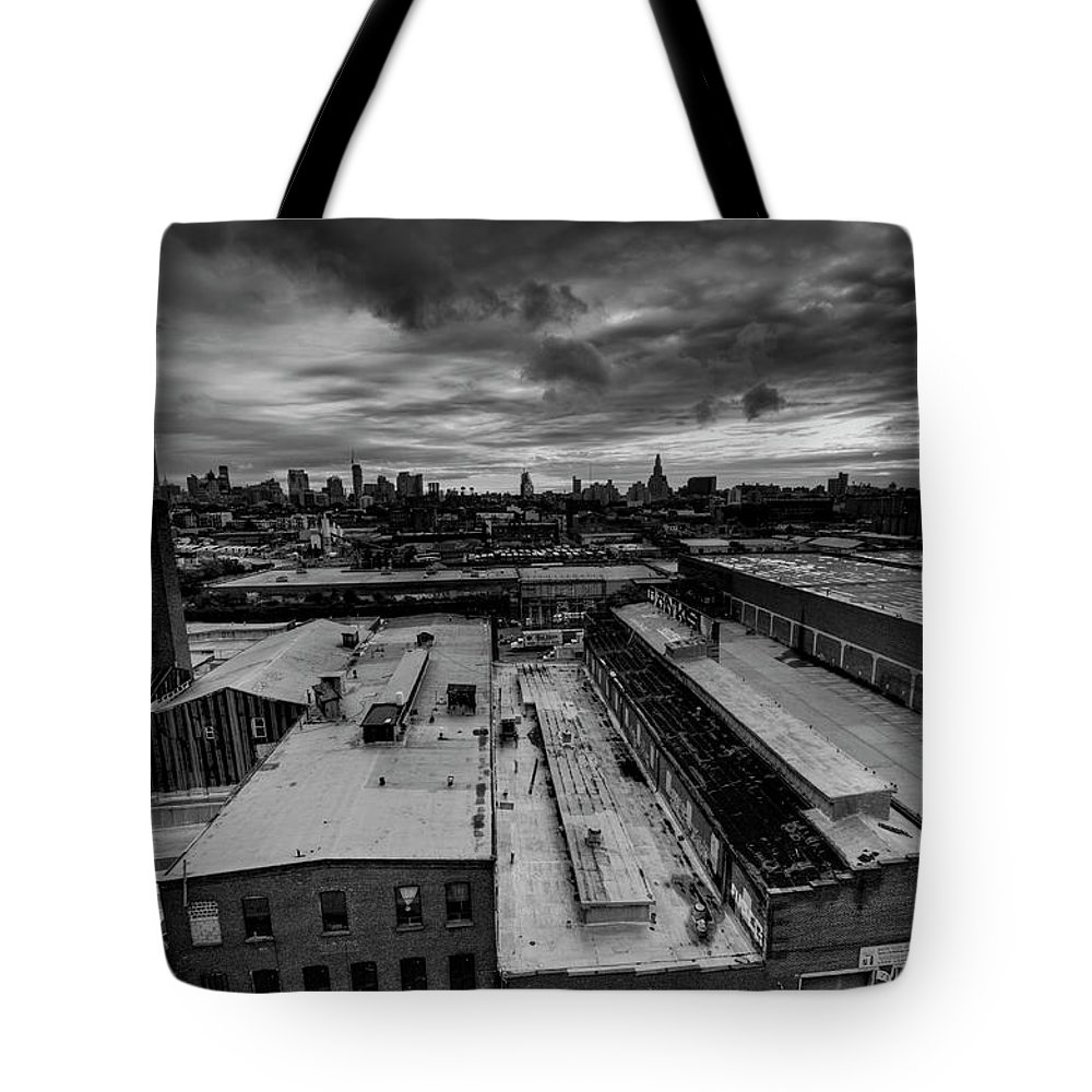 Industrial District Tote Bag featuring the photograph Smith 9th Panorama by Digitalcursor / Miron Kiriliv