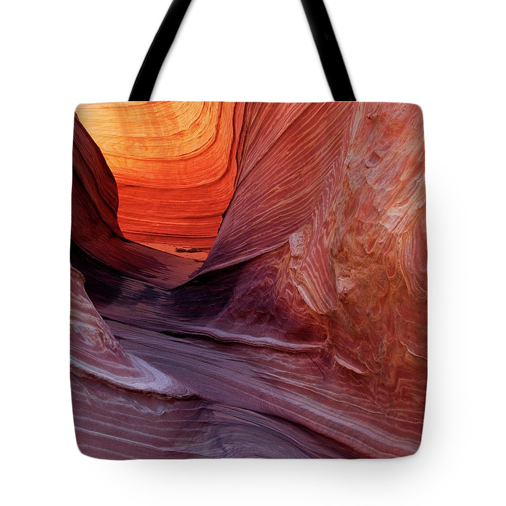 Geology Tote Bag featuring the photograph Smooth Red Stone , Vermilion Cliffs by Raimund Linke