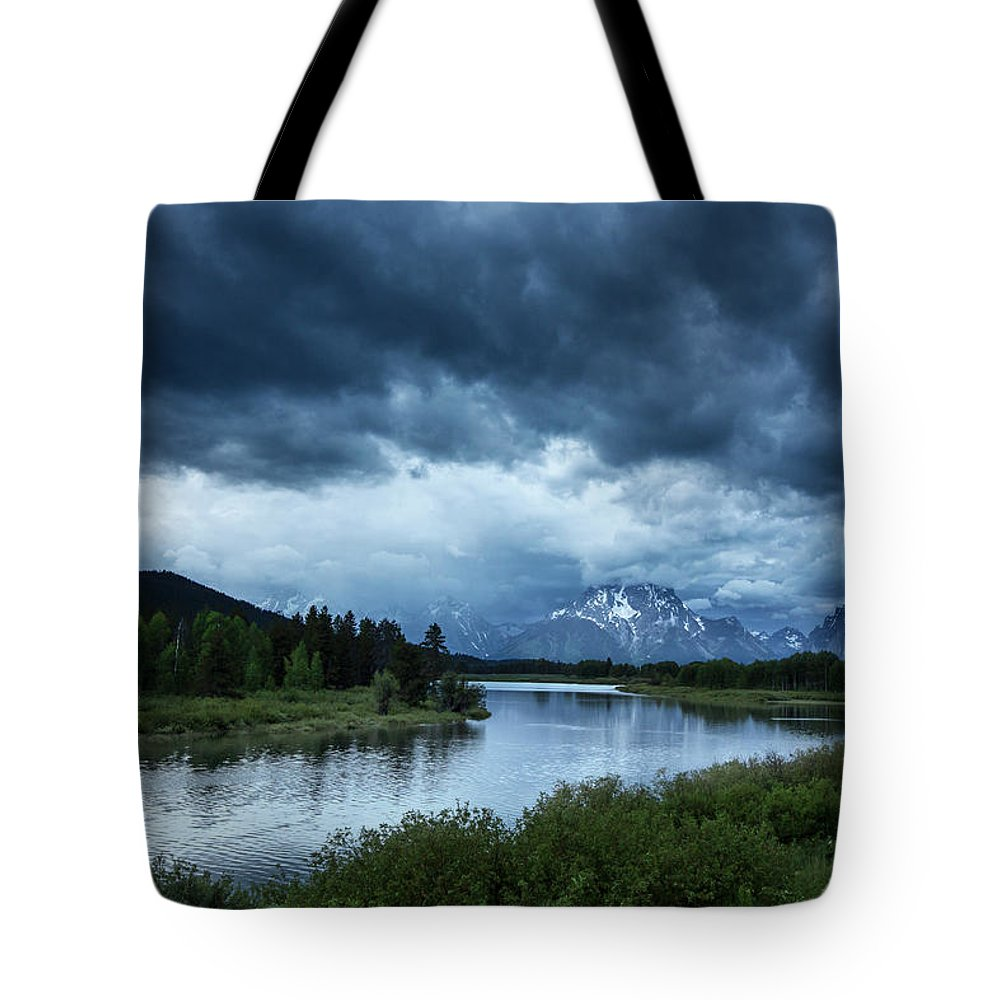 Tranquility Tote Bag featuring the photograph Snake River by Xavier Arnau Serrat