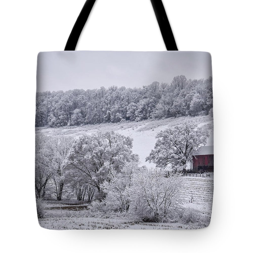 Snow Tote Bag featuring the photograph Snow Scene by Michelle Wittensoldner