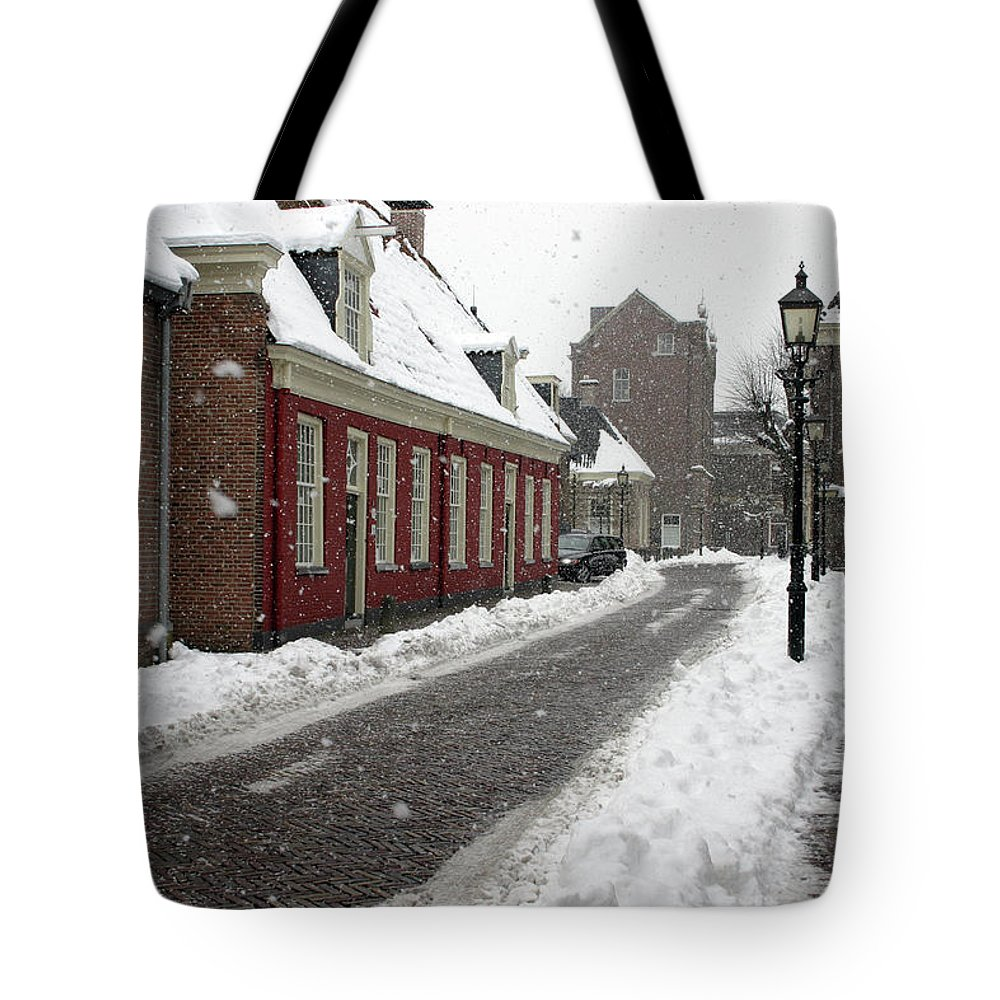 Tote Bag featuring the photograph Snowstorm - Assen, The Netherlands by Rick Veldman