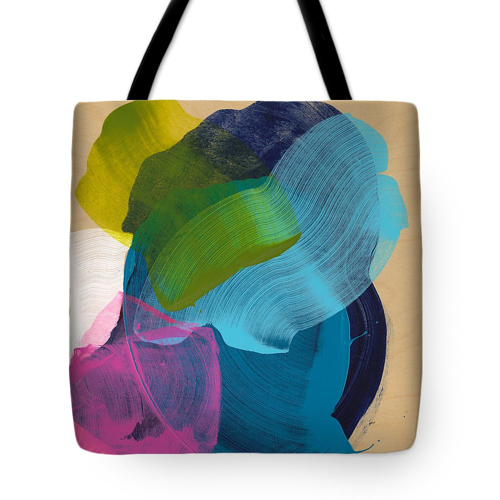 Abstract Tote Bag featuring the painting Socal 02 by Claire Desjardins