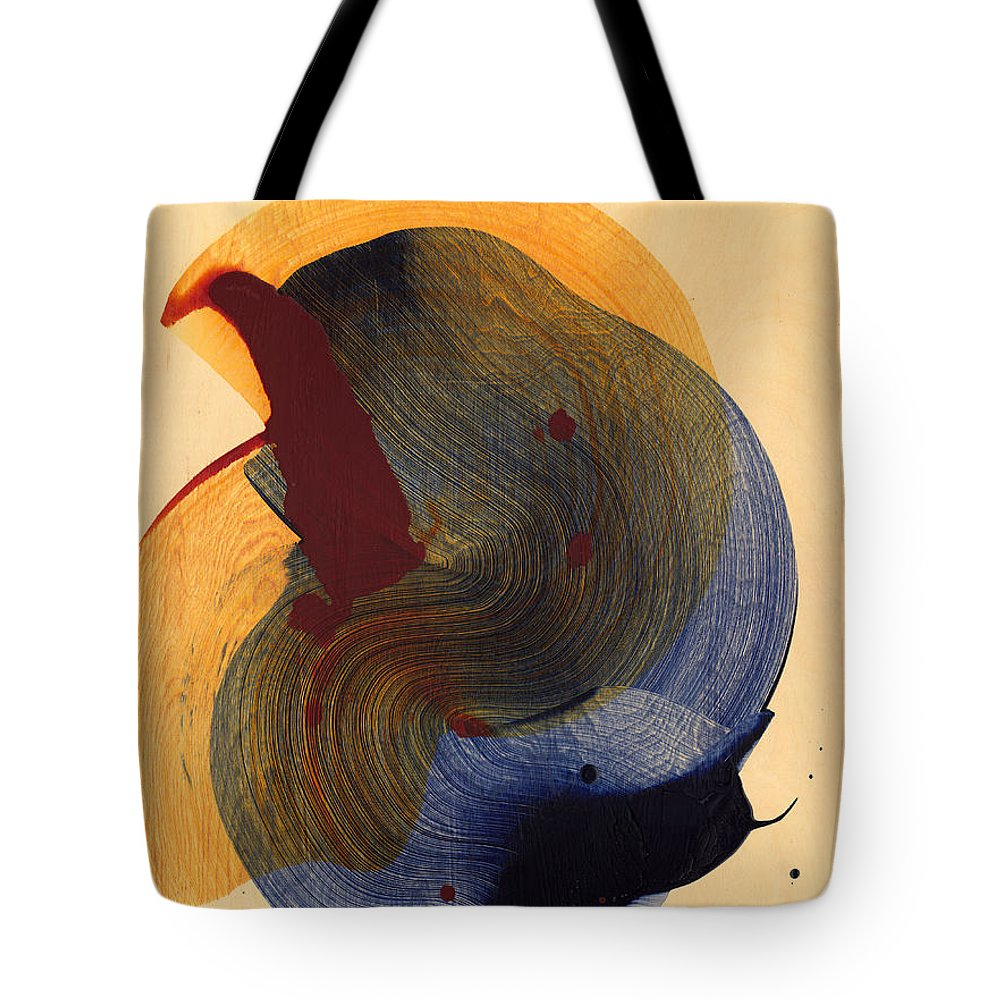 Abstract Tote Bag featuring the painting Socal 03 by Claire Desjardins
