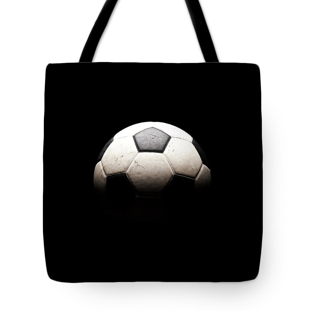 Shadow Tote Bag featuring the photograph Soccer Ball In Shadows by Thomas Northcut