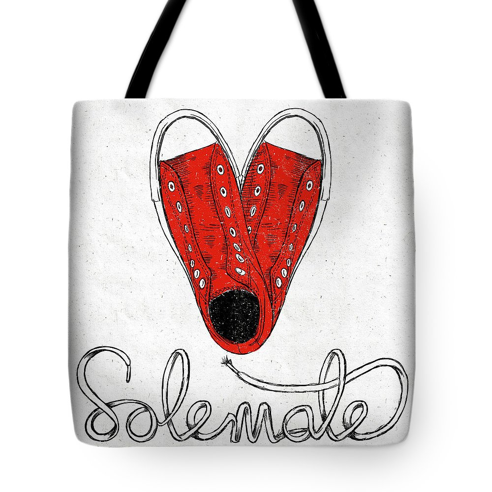 Sole Tote Bag featuring the painting Sole Mate by Sd Graphics Studio