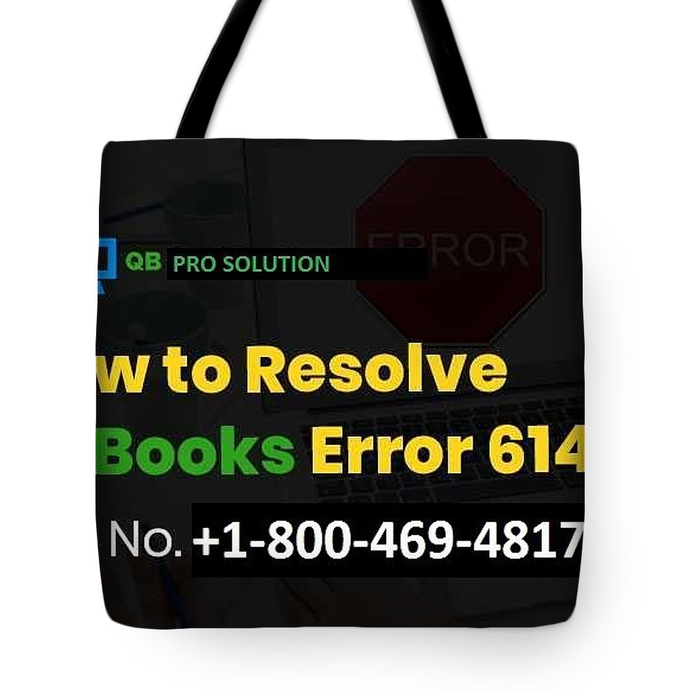 Quickbooks Error 6147-0 Tote Bag featuring the mixed media Solution Quickbooks Web Connector Error 6147,0 by Emma