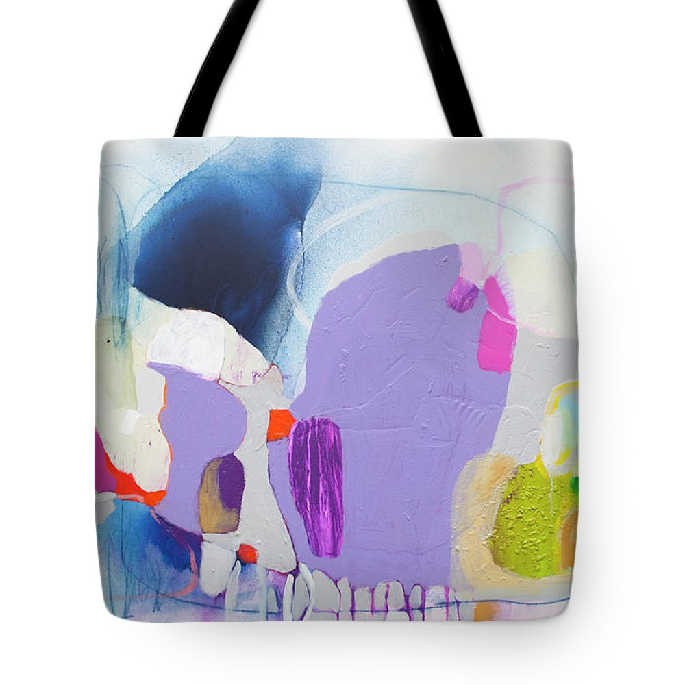 Abstract Tote Bag featuring the painting Sometime In June by Claire Desjardins