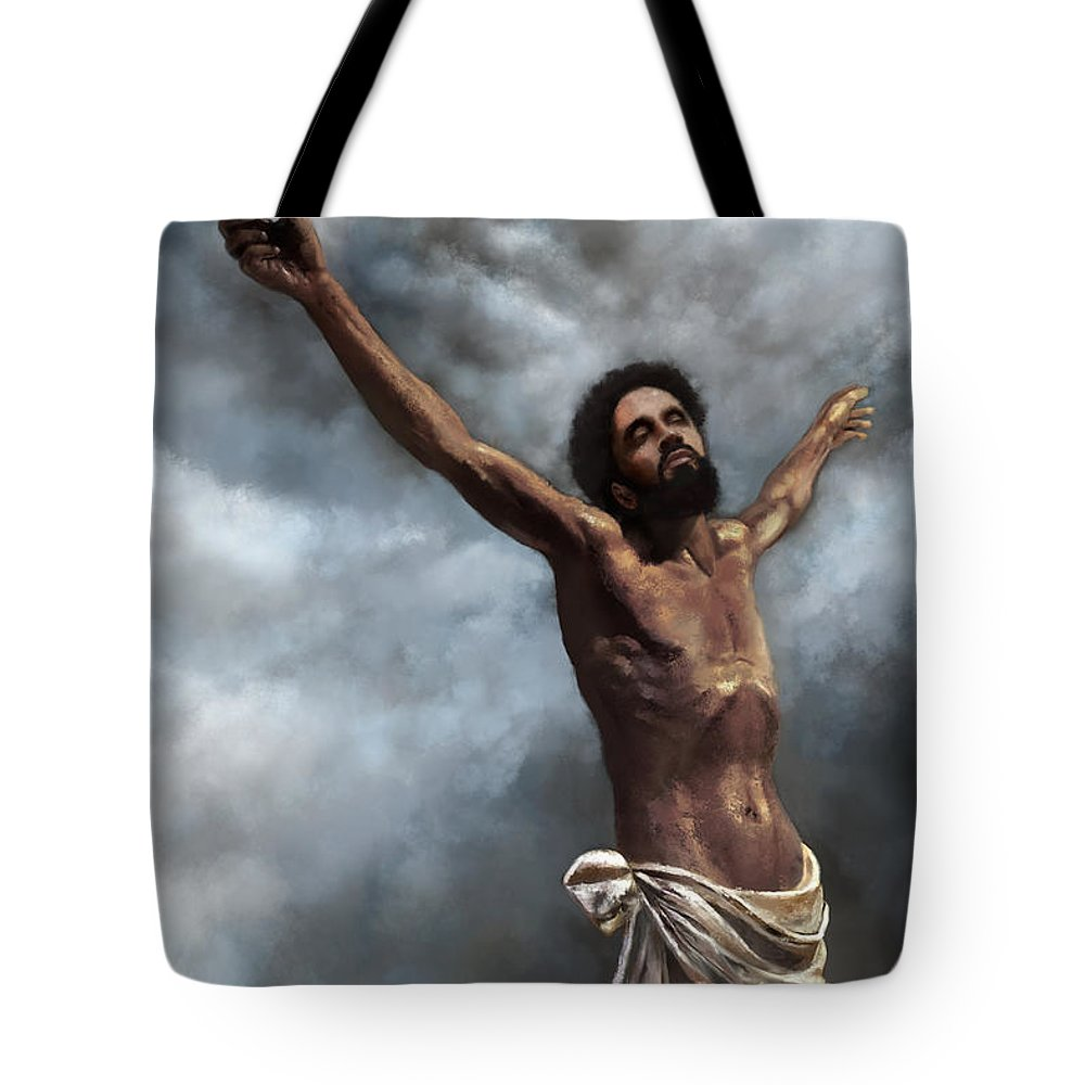 God Tote Bag featuring the digital art Son Of God by Dwayne Glapion