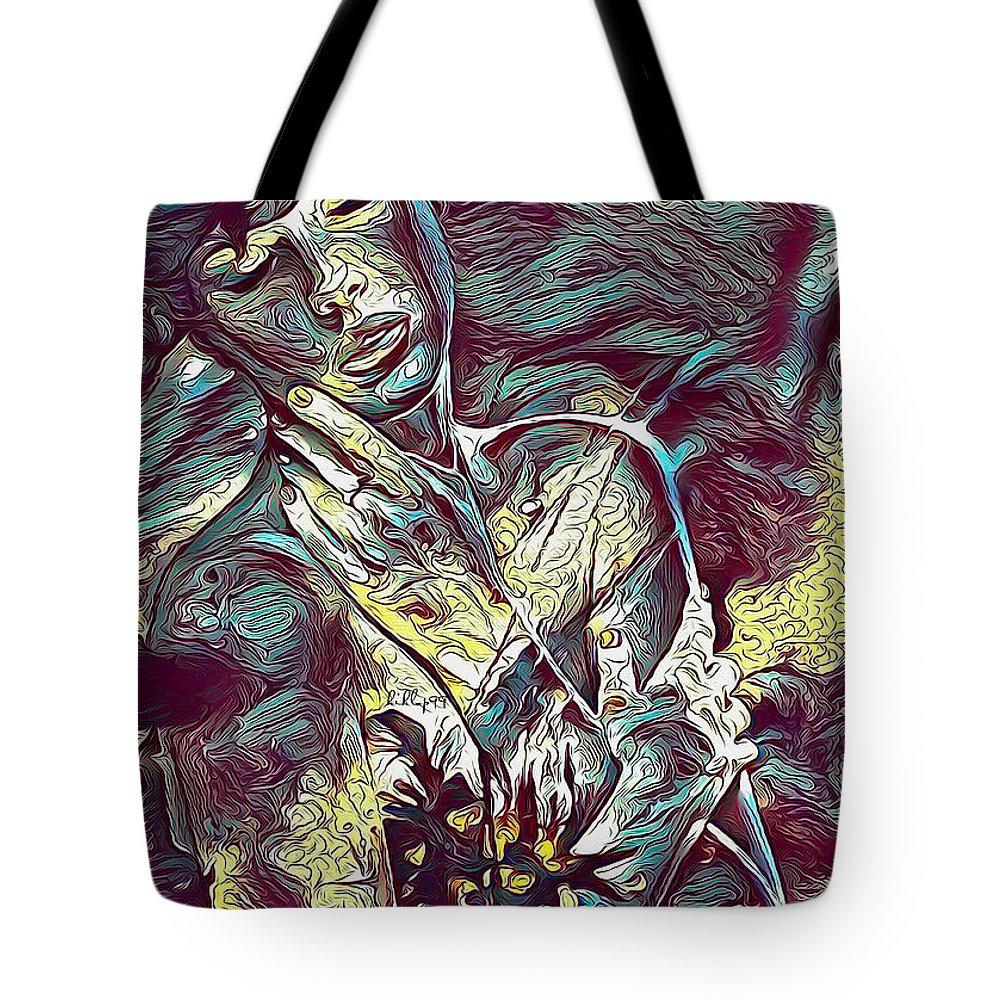 Paint Tote Bag featuring the digital art Sonya Portrait 2 by Nenad Vasic