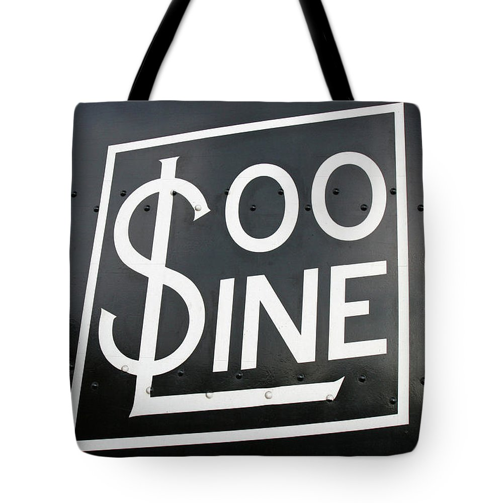 Soo Line Tote Bag featuring the photograph Soo Line Logo by Todd Klassy