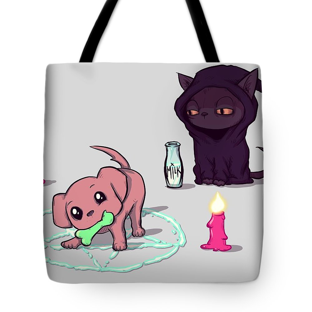 Puppy Drawings Tote Bags