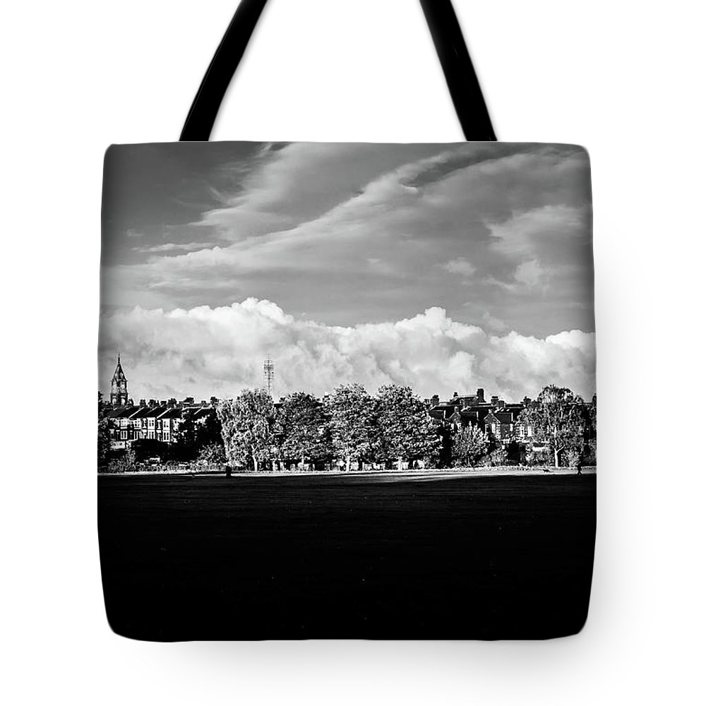 Darlington Tote Bag featuring the photograph South Park View by Dean Baynham