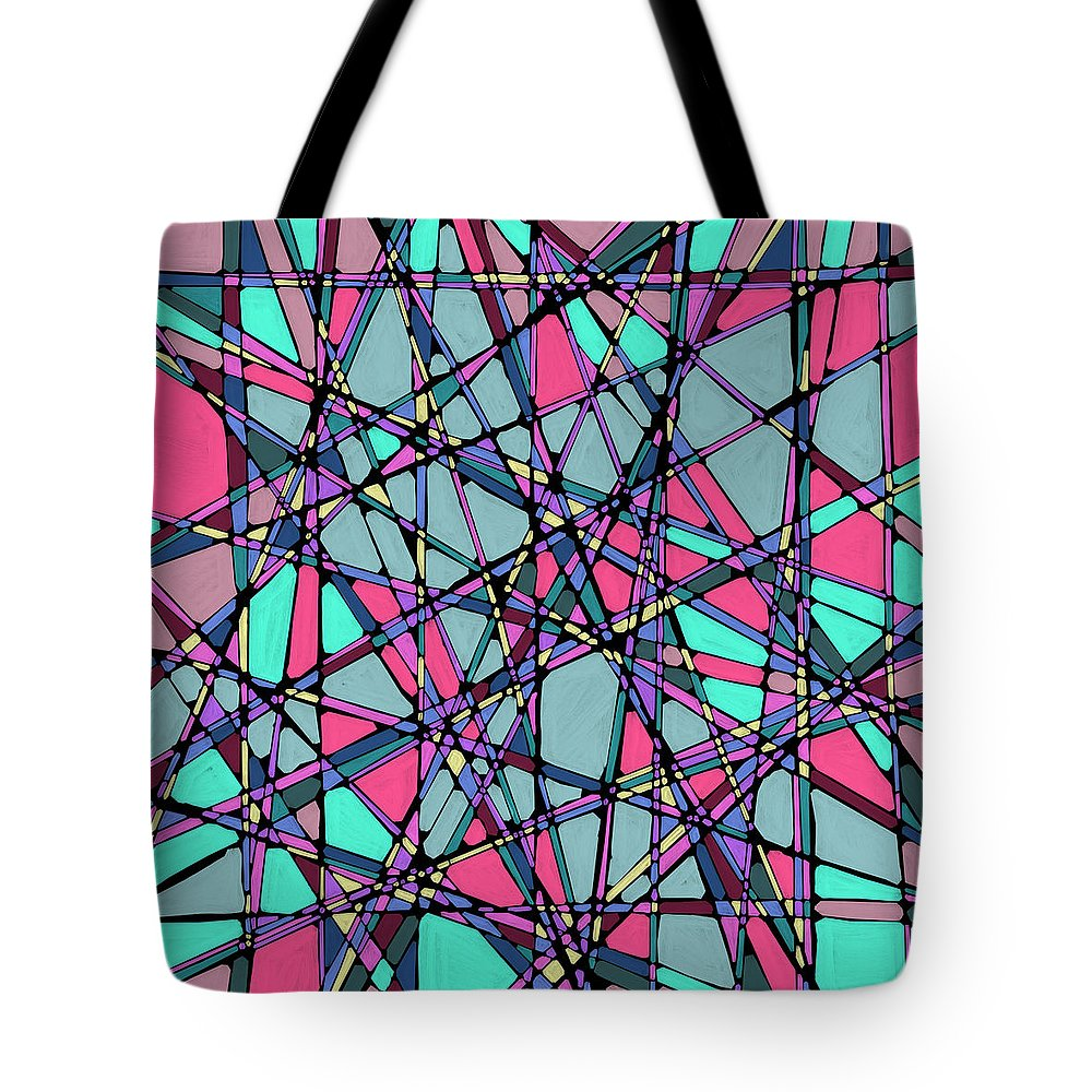 Nonobjective Tote Bag featuring the digital art Spaces We Inhabit #010 by James Fryer