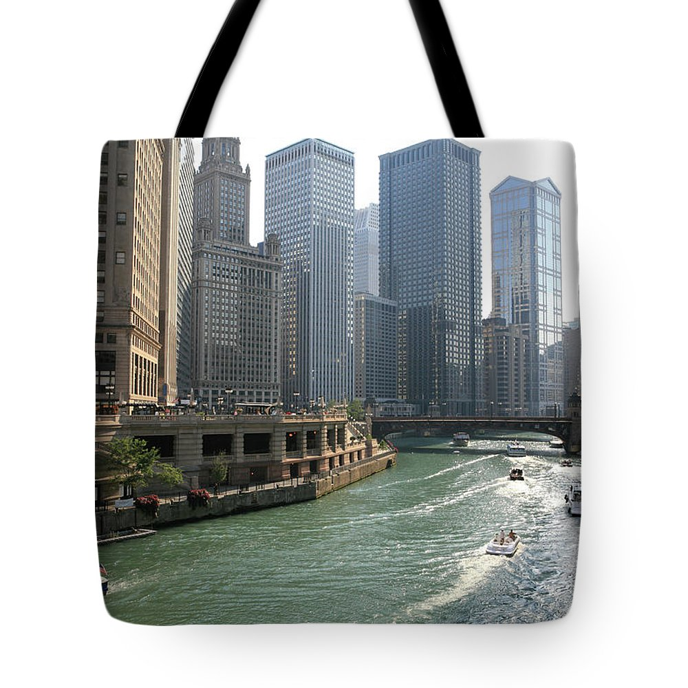 Downtown District Tote Bag featuring the photograph Spectacular Chicago Downtown by Ekash