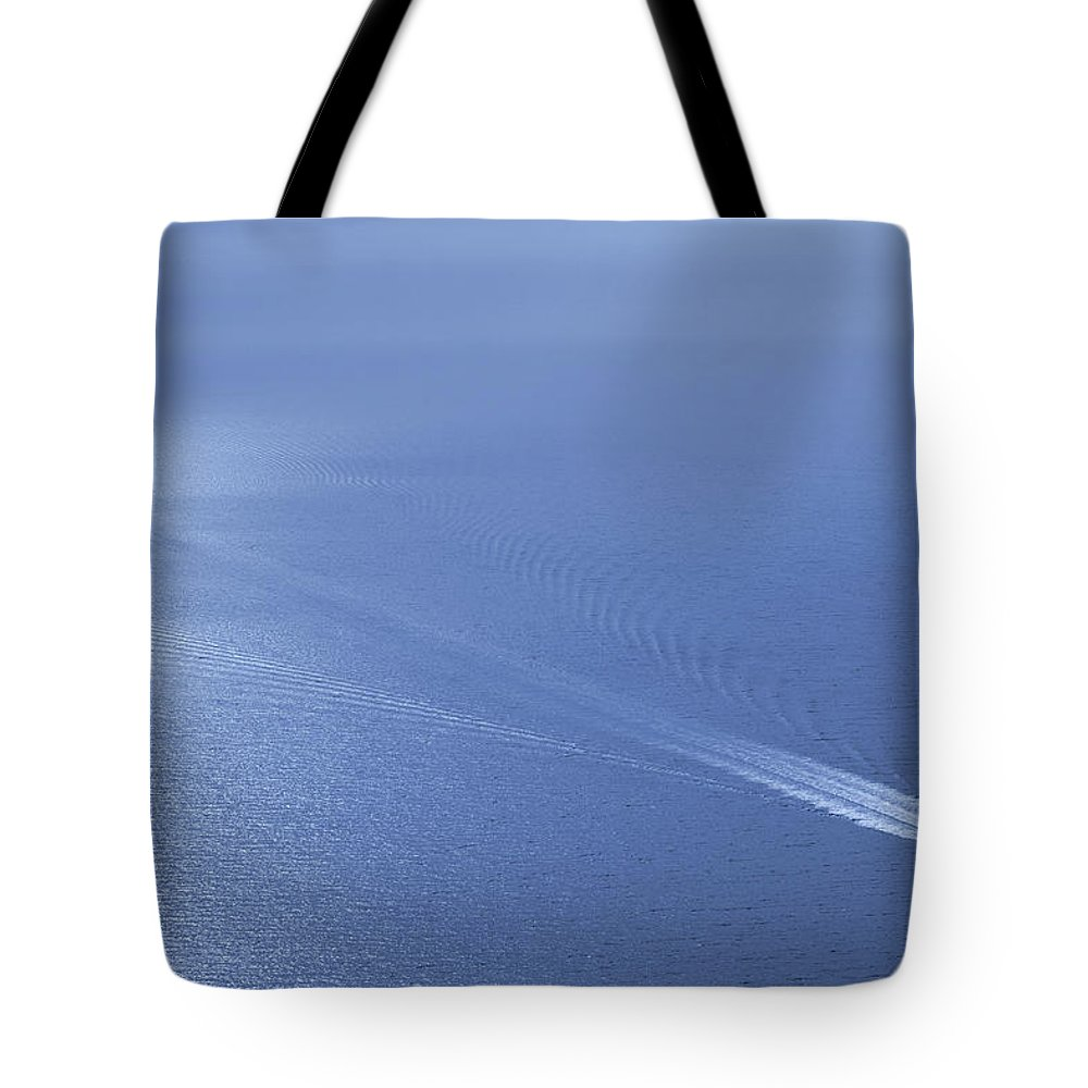 Scenics Tote Bag featuring the photograph Speedboat On The Sea by Nikada