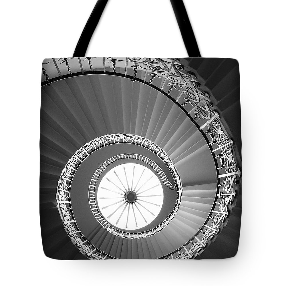 Stairs Tote Bag featuring the photograph Spiral Staircase by Vera De Gernier