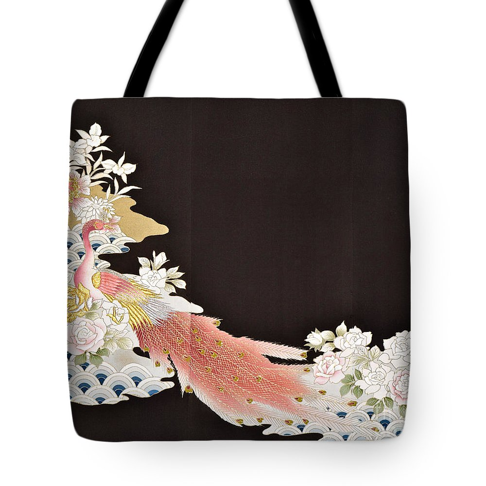 Tote Bag featuring the digital art Spirit of Japan T3 by Miho Kanamori