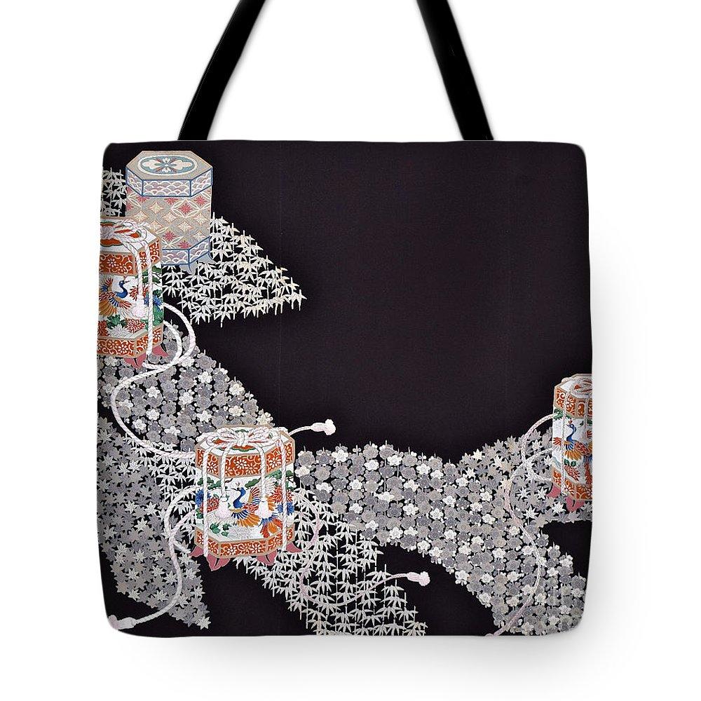 Tote Bag featuring the digital art Spirit of Japan T34 by Miho Kanamori