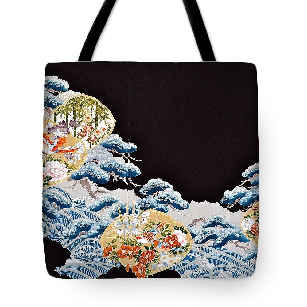 Tote Bag featuring the digital art Spirit of Japan T6 by Miho Kanamori