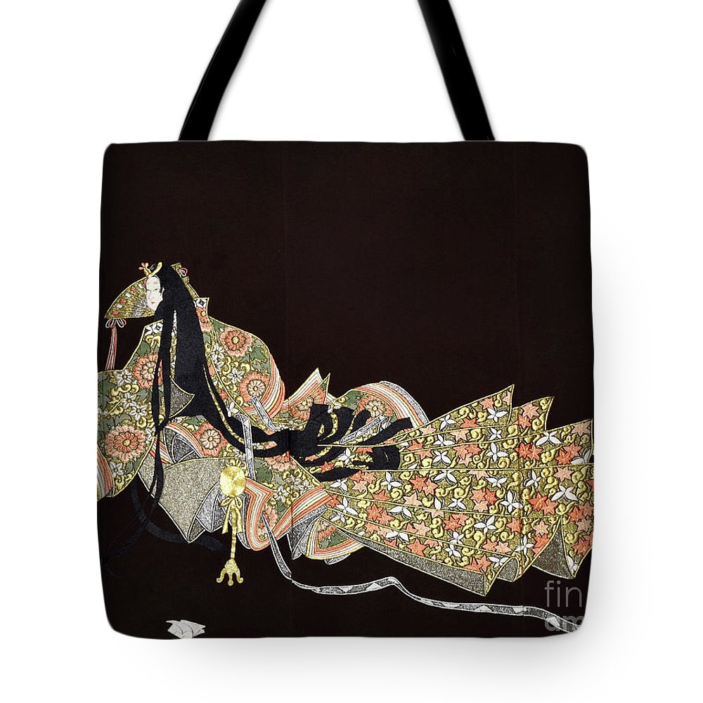 Tote Bag featuring the tapestry - textile Spirit of Japan T91 by Miho Kanamori