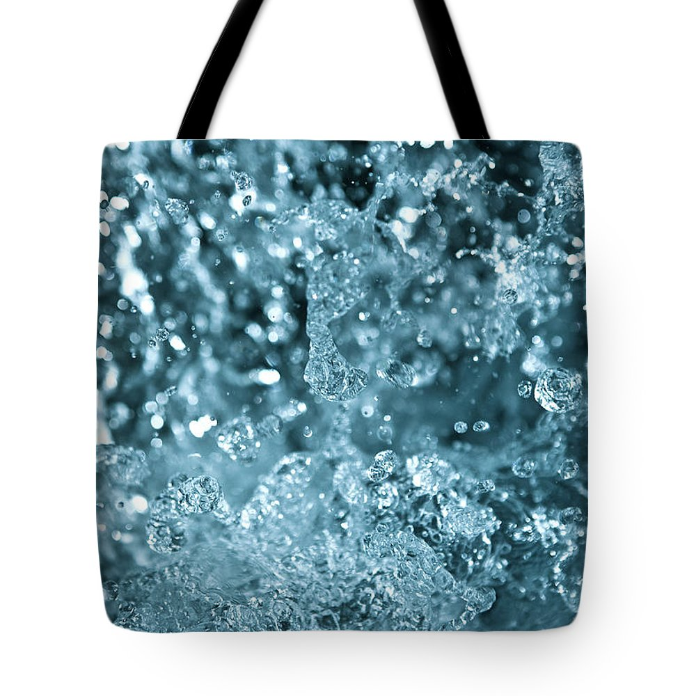 Spray Tote Bag featuring the photograph Splash From Waterfall by Sindre Ellingsen