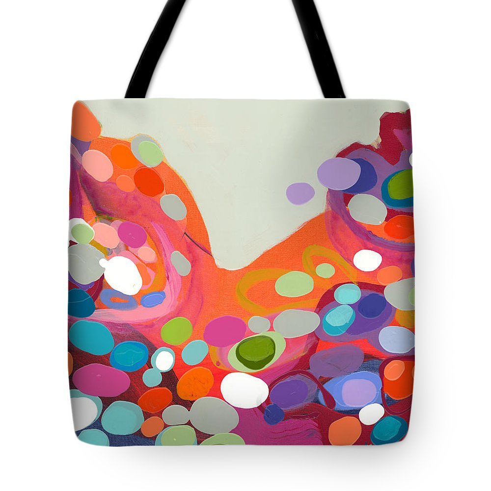 Abstract Tote Bag featuring the painting Spoonful Of Joy by Claire Desjardins