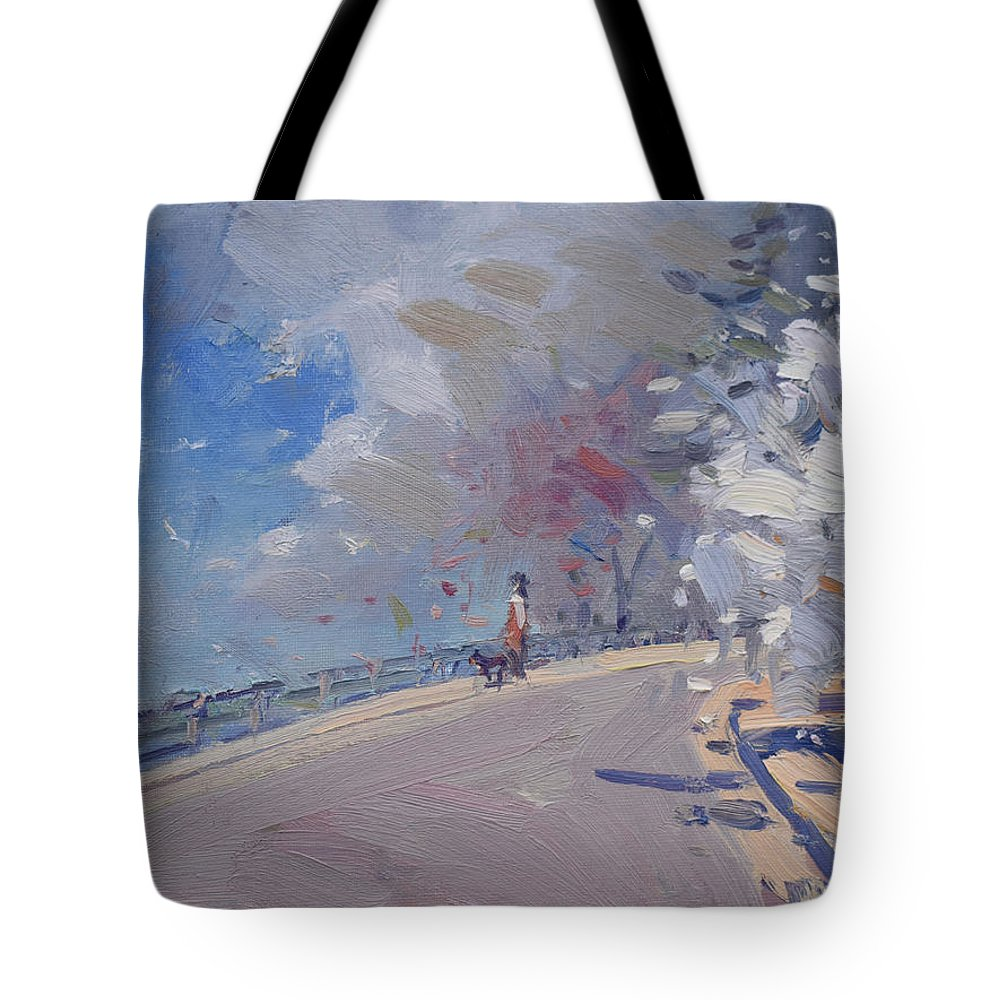 Spring Tote Bag featuring the painting Spring 2019 by Ylli Haruni