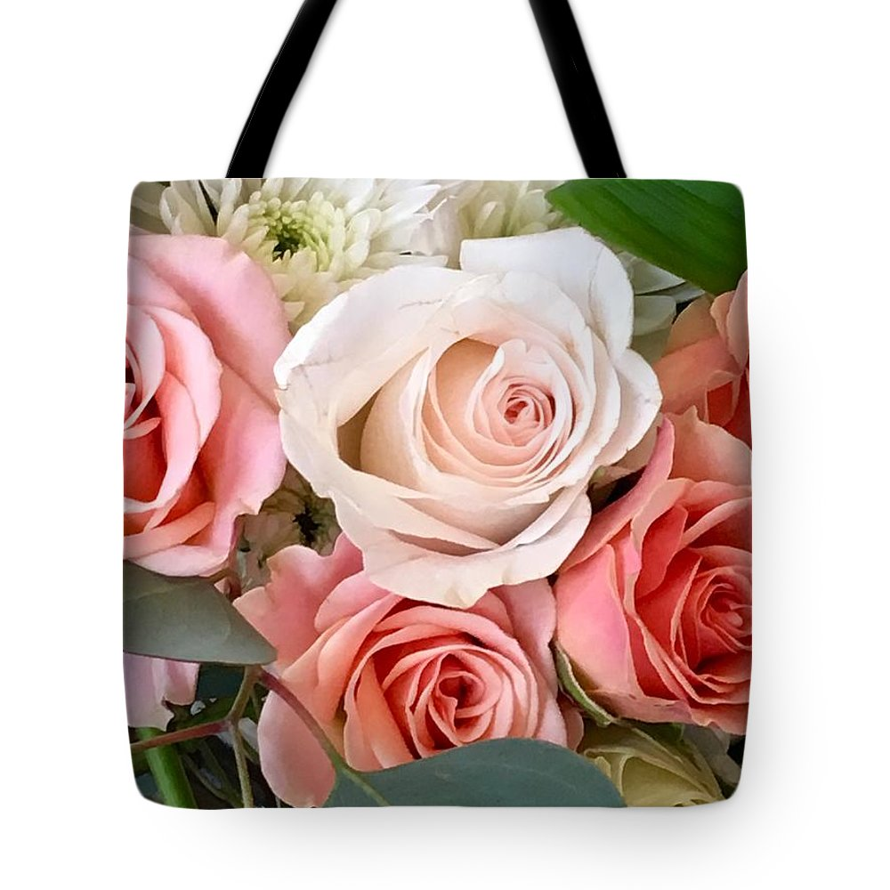 Rose Tote Bag featuring the photograph Spring Bouquet by Linda Knudsen