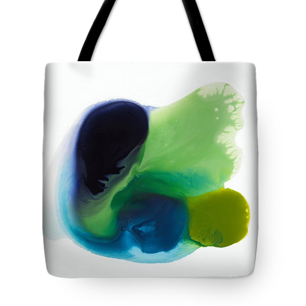 Abstract Tote Bag featuring the painting Springtime by Claire Desjardins