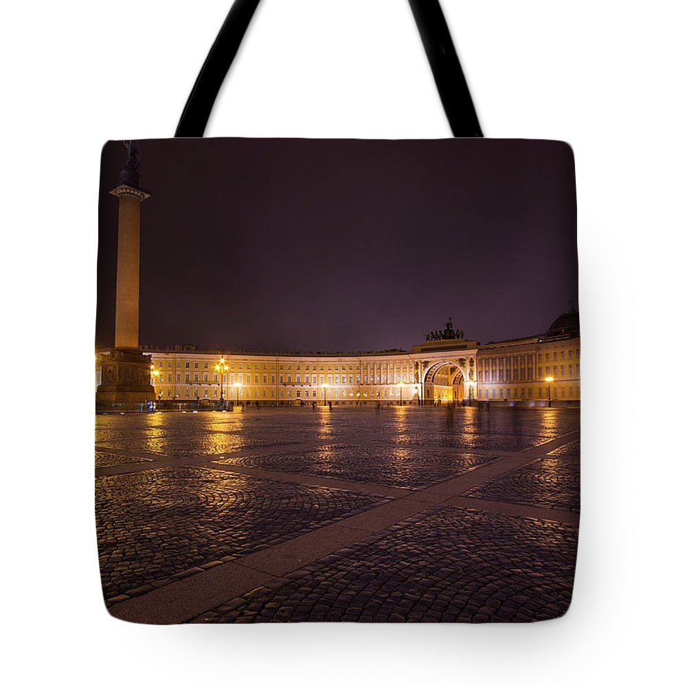 City Tote Bag featuring the photograph St. Petersburg Palace Square by Judy Hess
