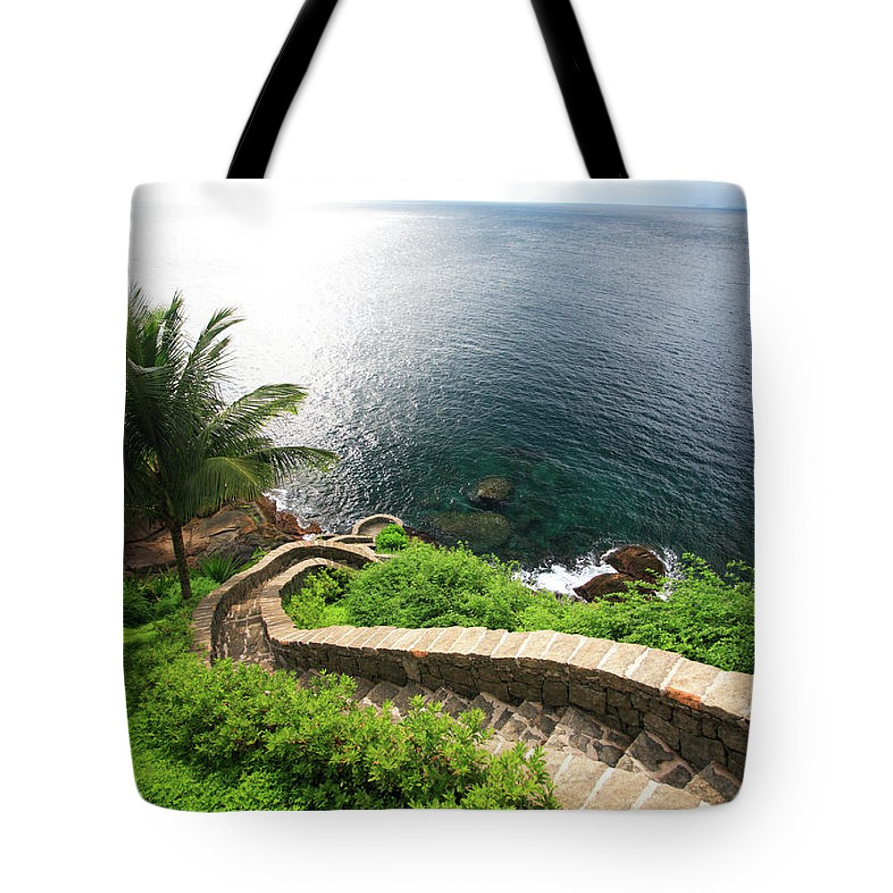 Steps Tote Bag featuring the photograph Stairs To The Sea - Brazil by Luso