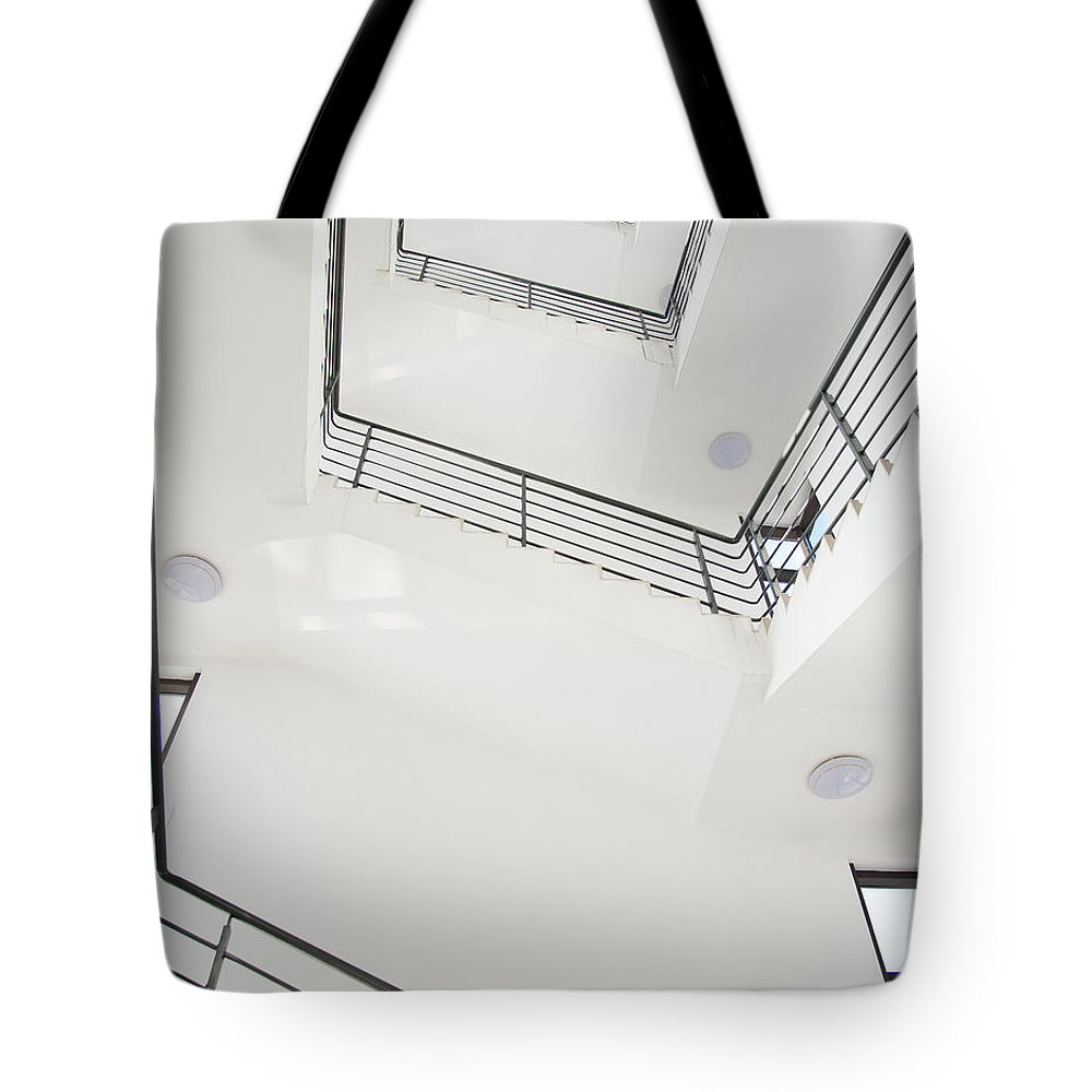 Employment And Labor Tote Bag featuring the photograph Stairway by Baona
