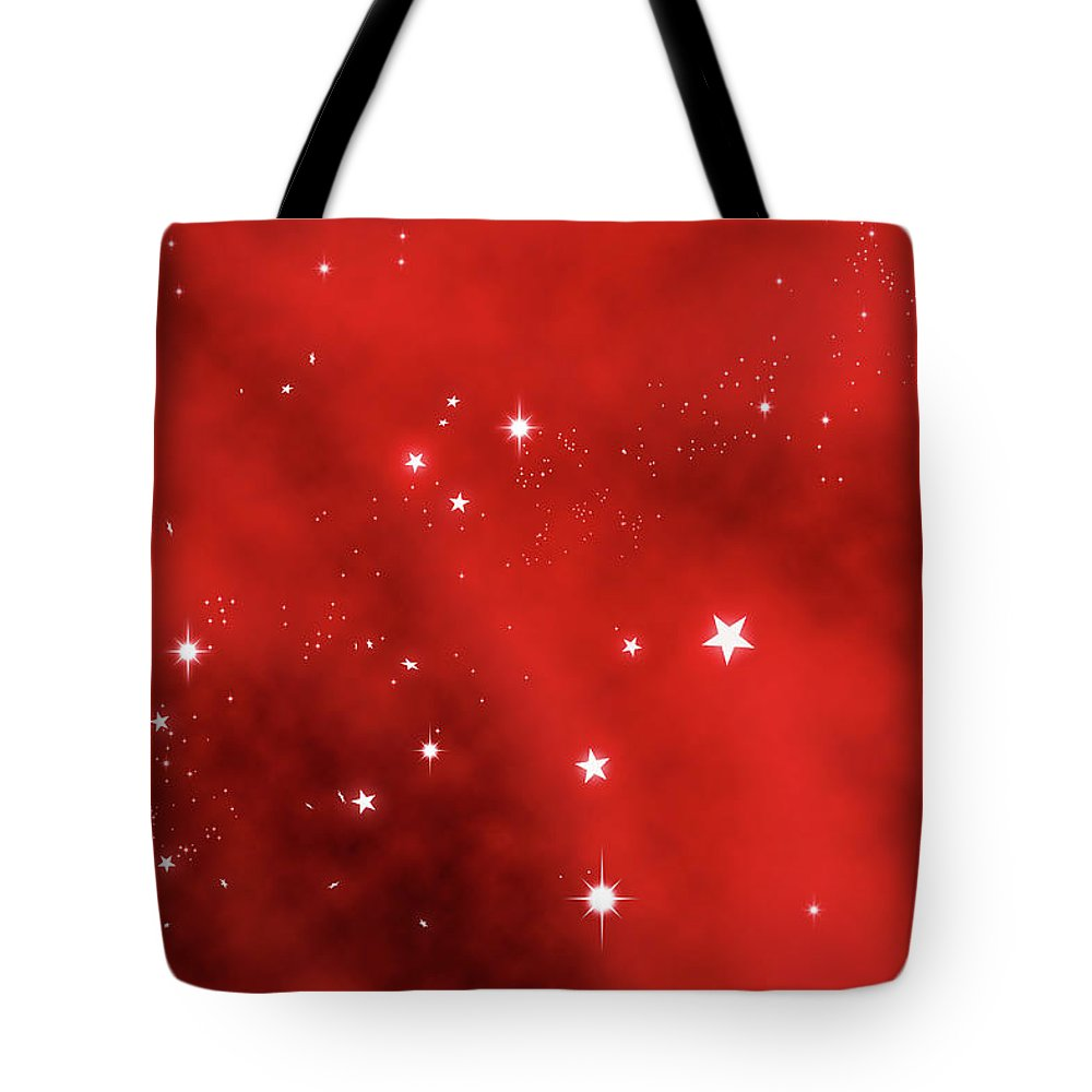 Holiday Tote Bag featuring the photograph Stars Background by Enter89