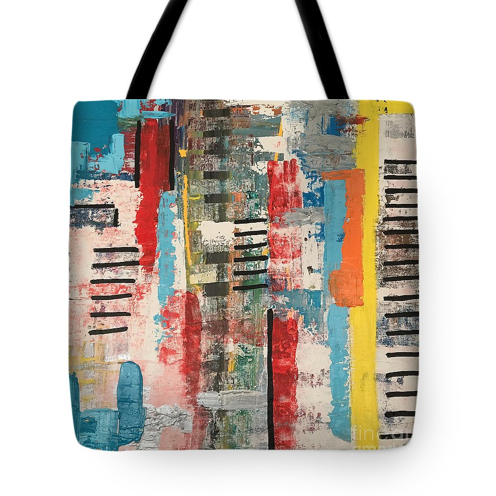 Brand New Tote Bag featuring the painting Starting Fresh by Lara Lenhoff