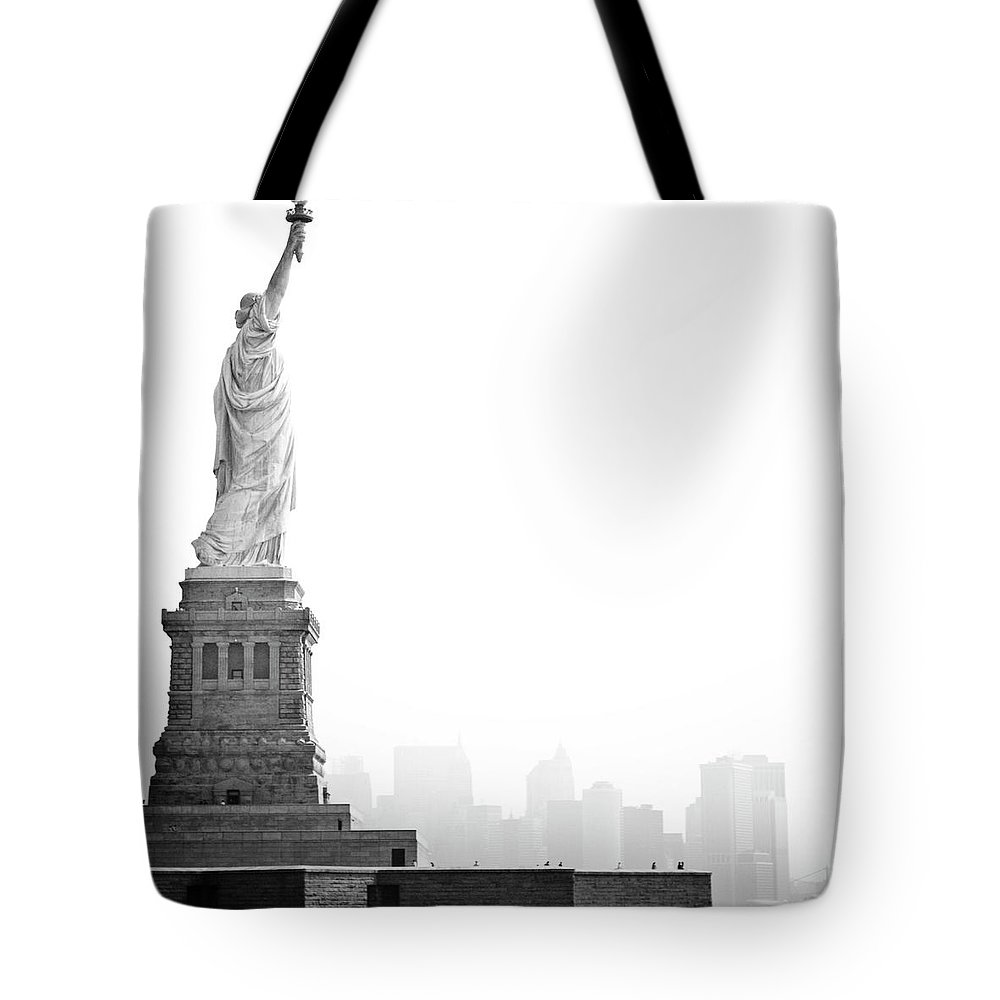 Statue Tote Bag featuring the photograph Statue Of Liberty by Image - Natasha Maiolo