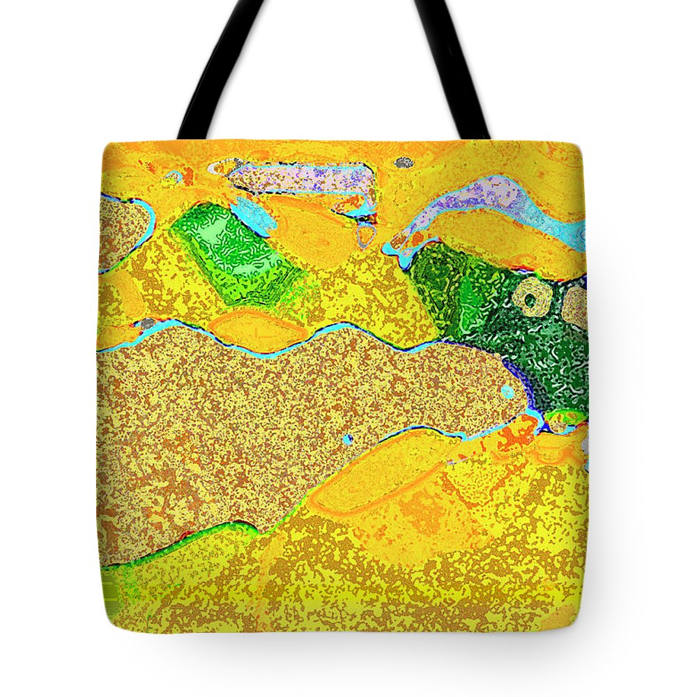 Flowers Tote Bag featuring the digital art Steamboat Rock 11 by Bruce Whitaker
