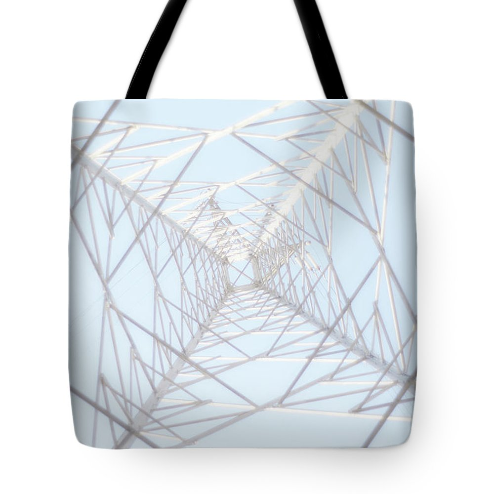 Radial Symmetry Tote Bag featuring the photograph Steel Tower by Kaneko Ryo