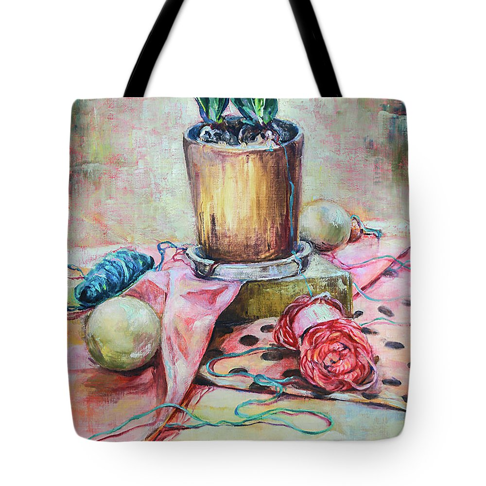 Still Life Tote Bag featuring the painting Still 1 by Mika Sakamoto