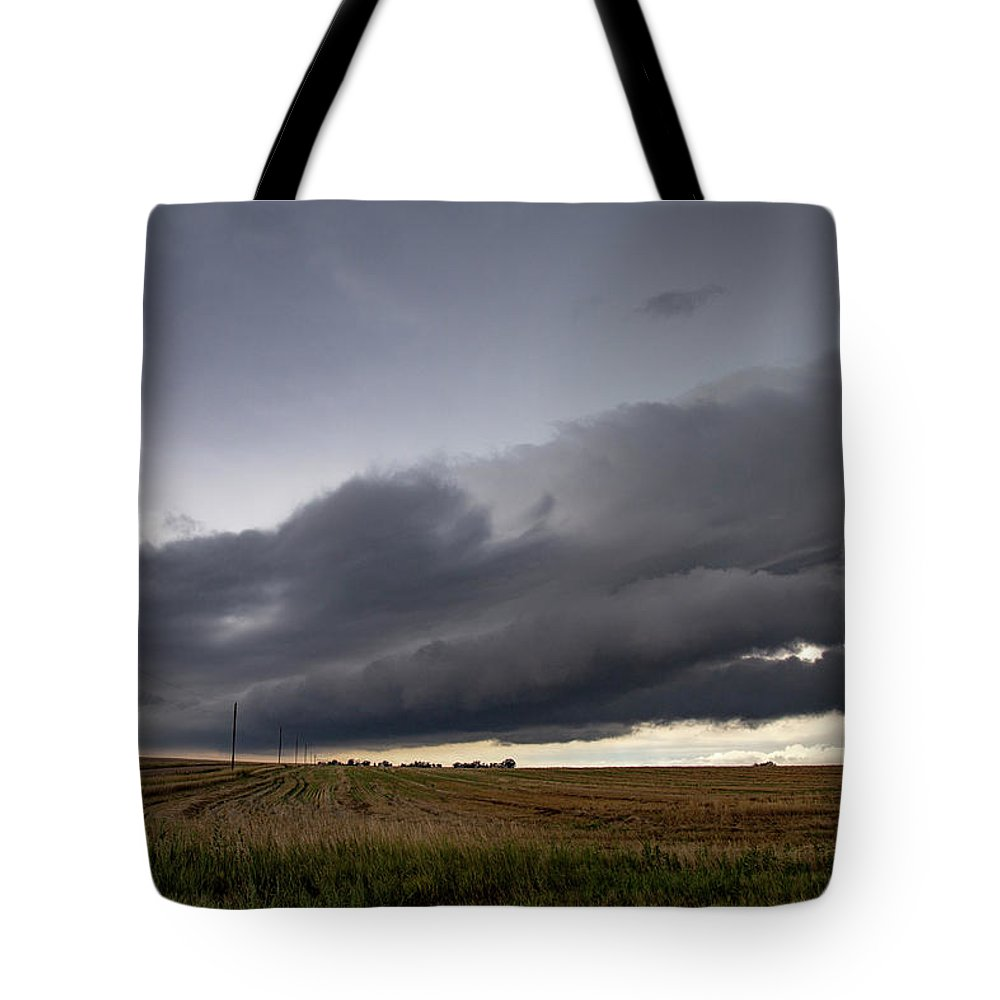 Nebraskasc Tote Bag featuring the photograph Storm Chasin In Nader Alley 004 by NebraskaSC