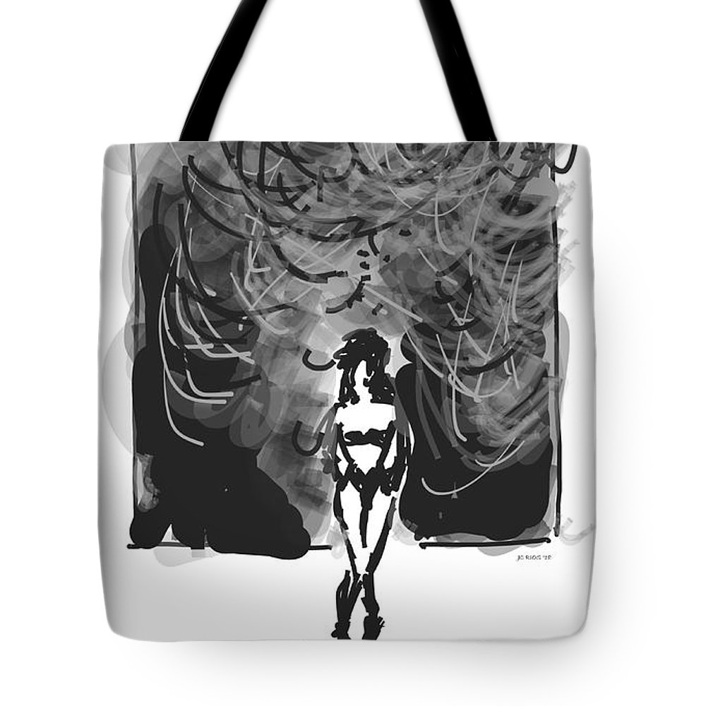 Storm Tote Bag featuring the digital art Storm In A Glass Box by Juan Carlos Rios