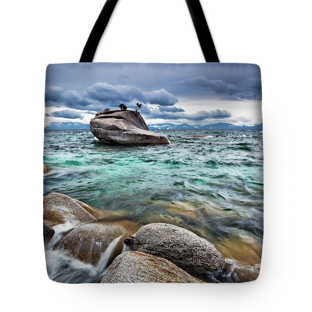 Outdoors Tote Bag featuring the photograph Storm, Lake Tahoe by Ropelato Photography; Earthscapes