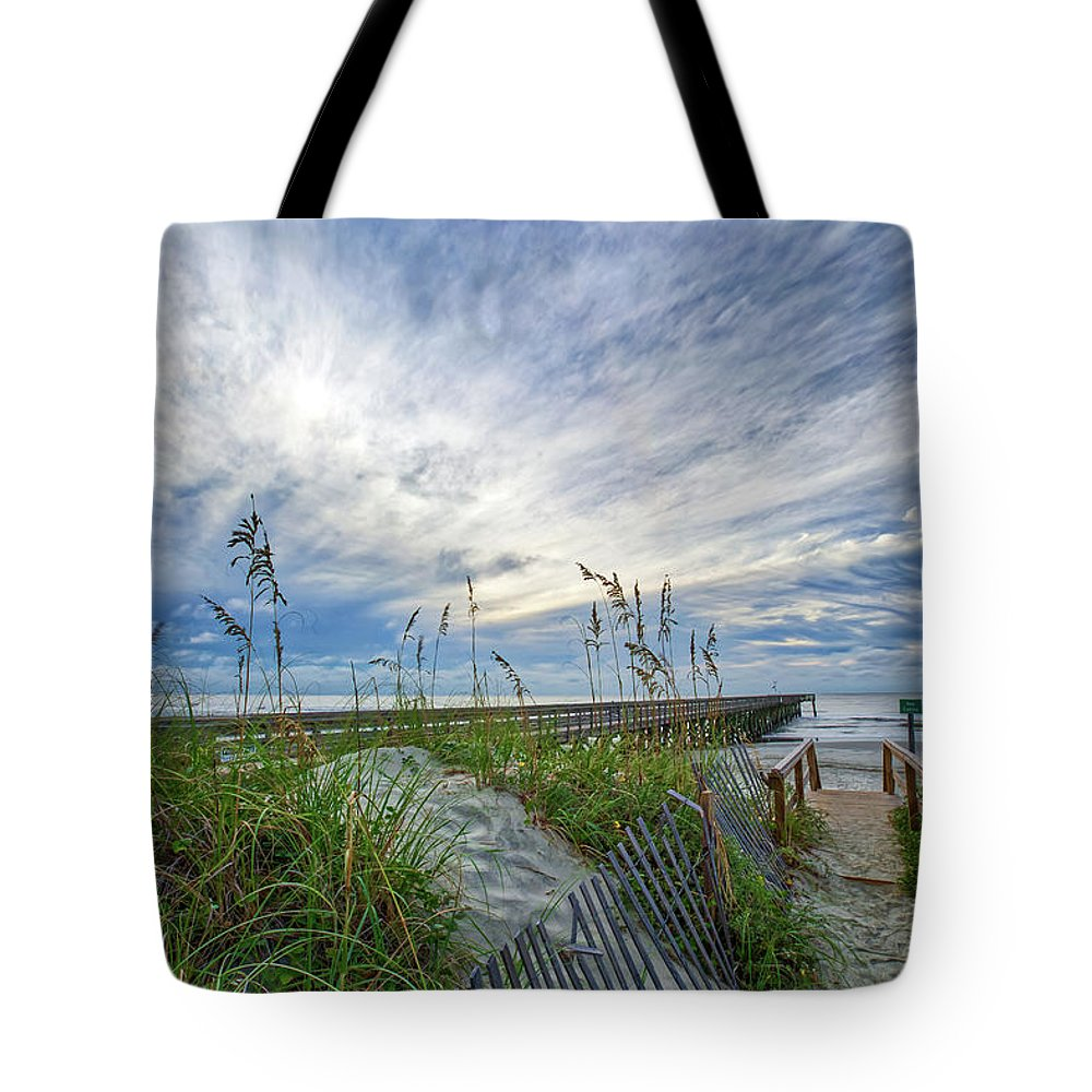 Isle Of Palms Tote Bag featuring the photograph Storm's Coming by Walt Baker
