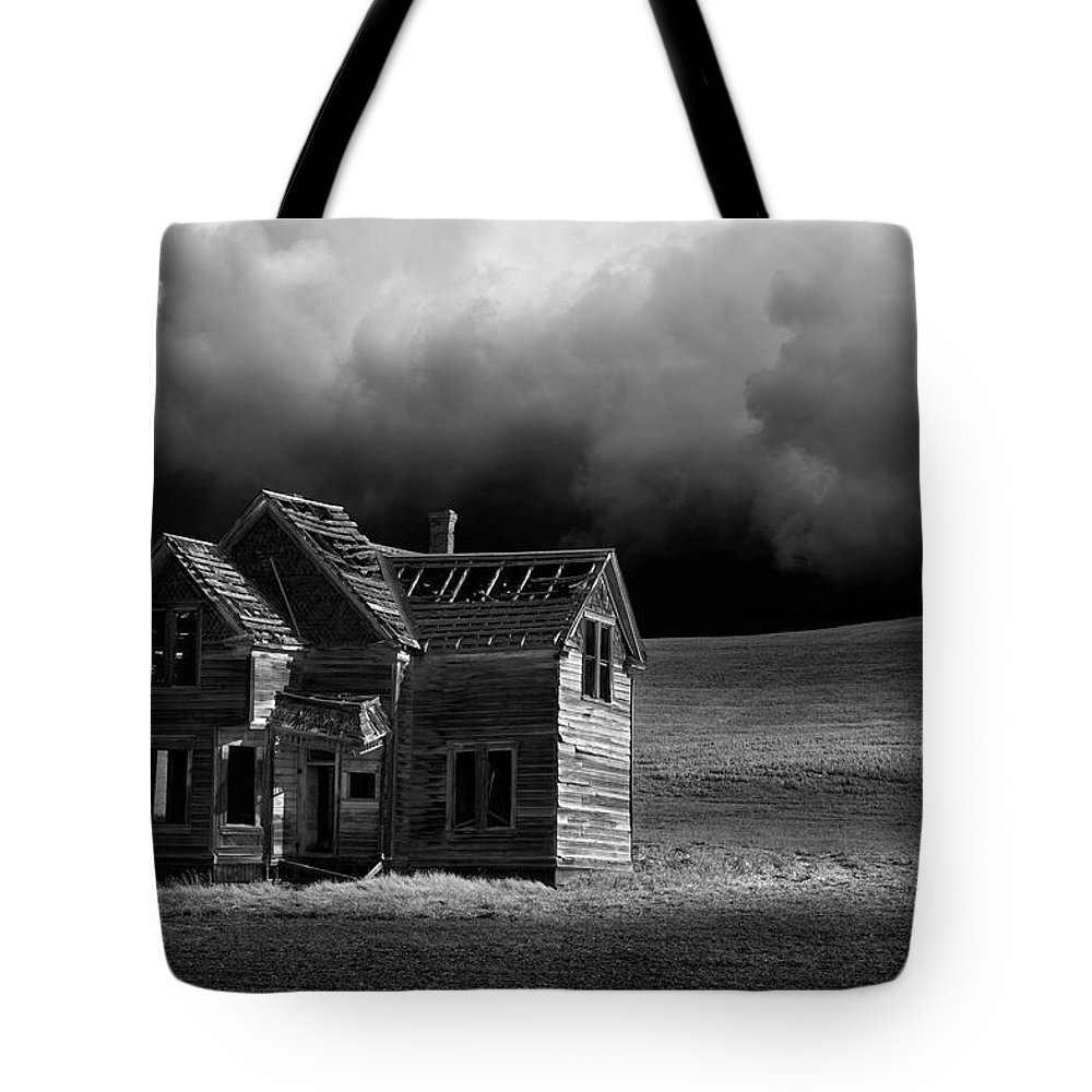 Grass Tote Bag featuring the photograph Stormy Weather by Davealan