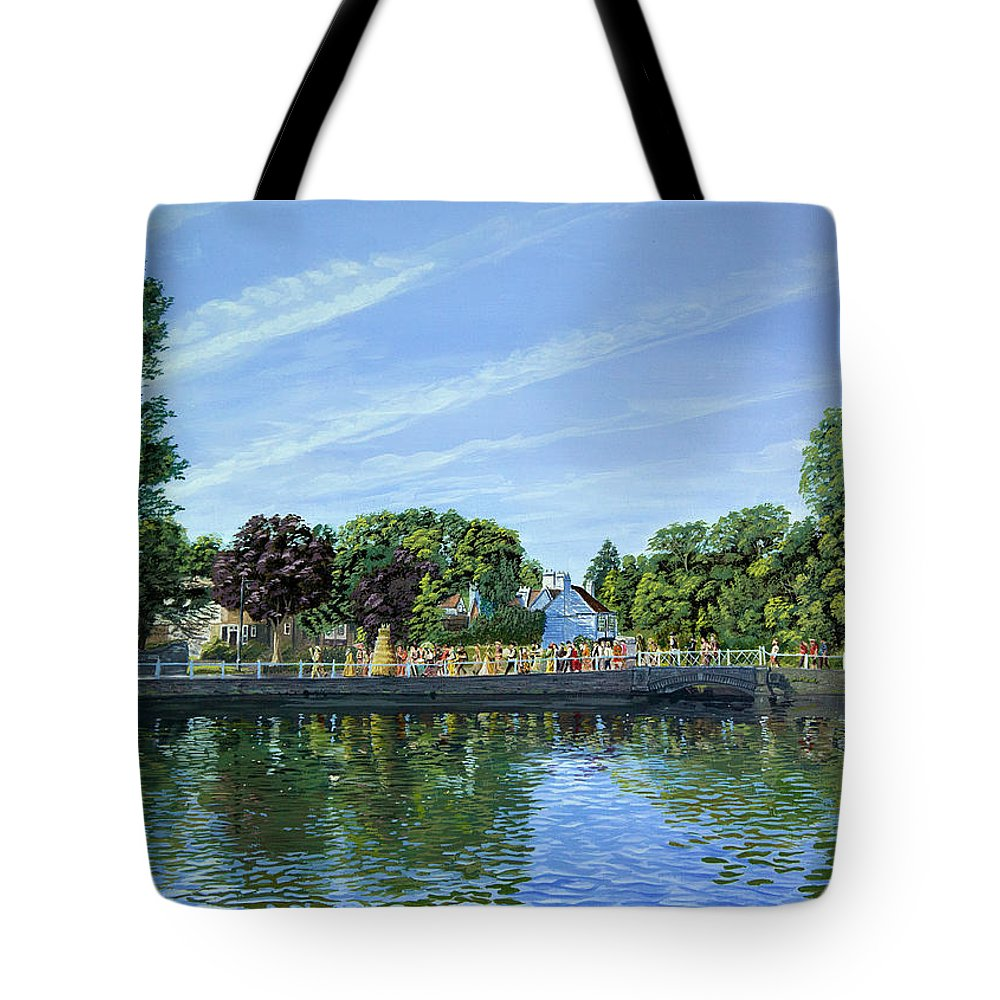 Staw Jack Tote Bag featuring the painting Straw Jack Carshalton by Raymond Ore