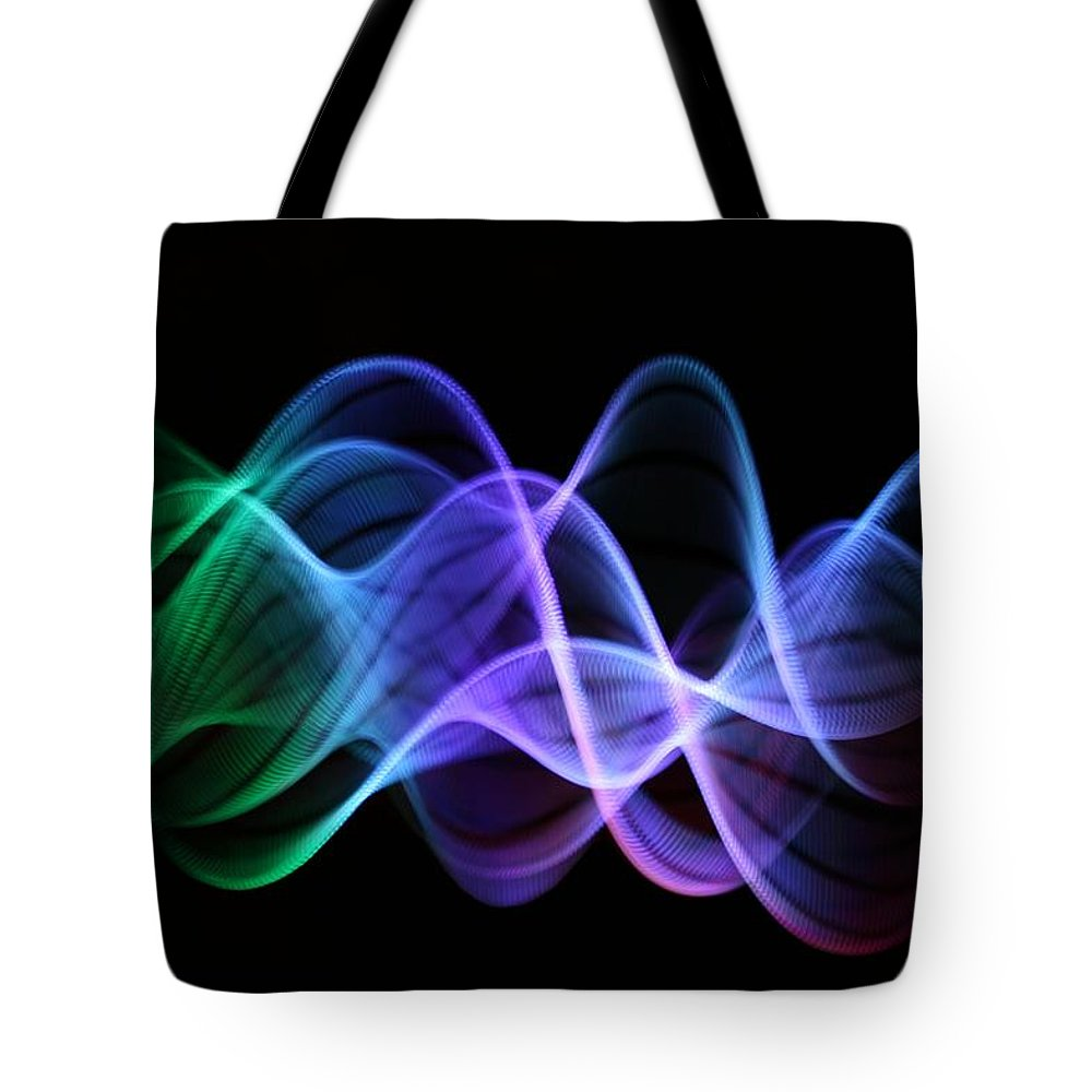 Particle Tote Bag featuring the photograph Stringlight1 by Merrymoonmary