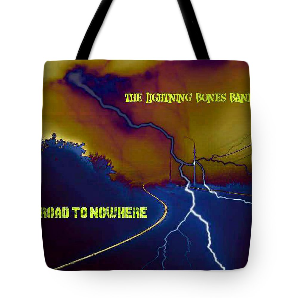 Submitted Art Work For The Lightning Bones Band Tote Bag featuring the digital art Submitted Art Work For The Lightning Bones Band by Tony Adamo