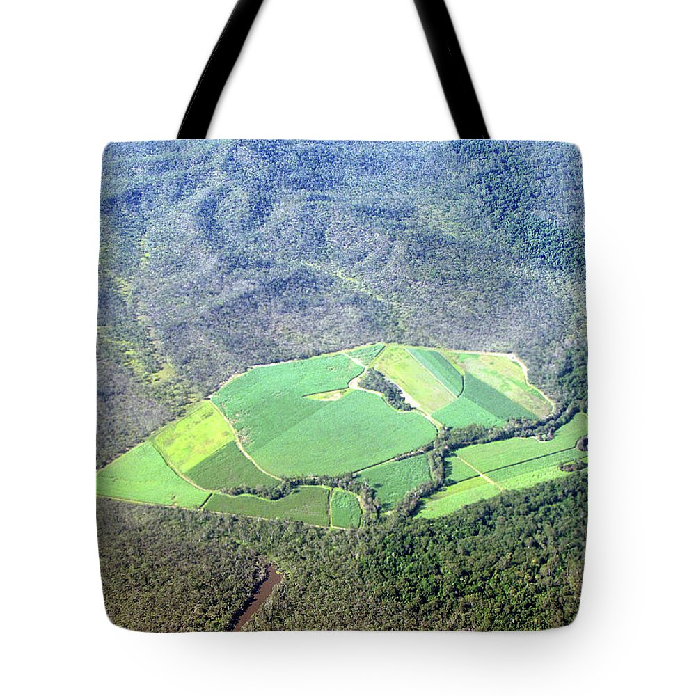 Cairns Tote Bag featuring the photograph Sugar Canefields Carved Out Of Forest by Photography By Mangiwau