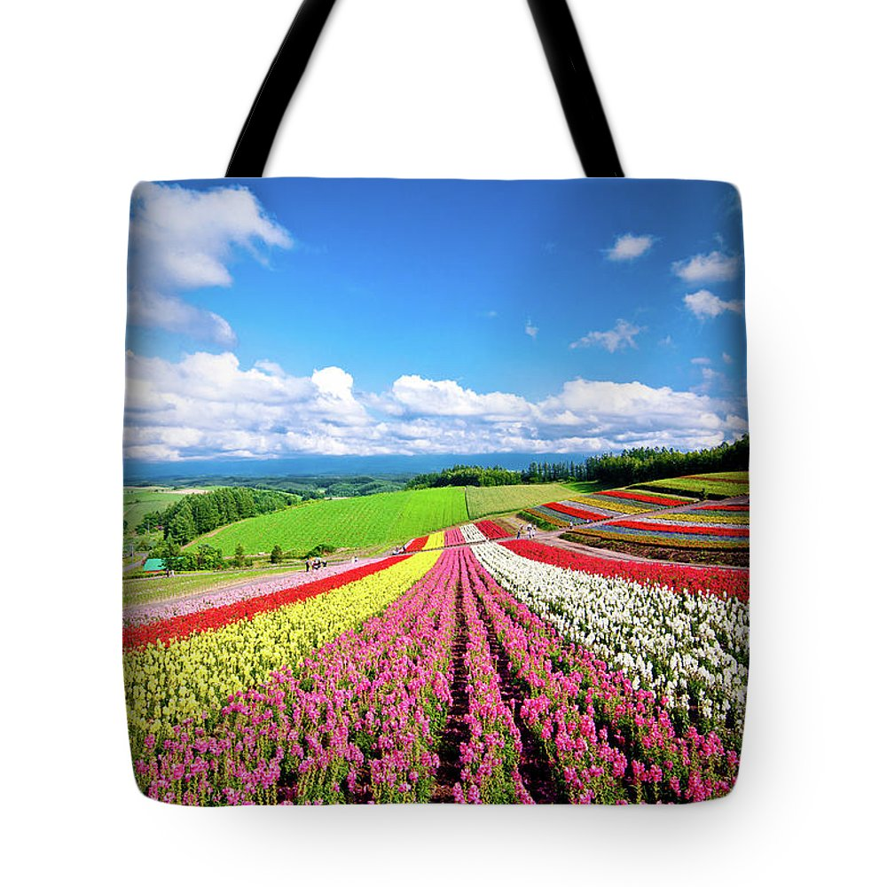 Tranquility Tote Bag featuring the photograph Summer Of Furano by Grace's Photo