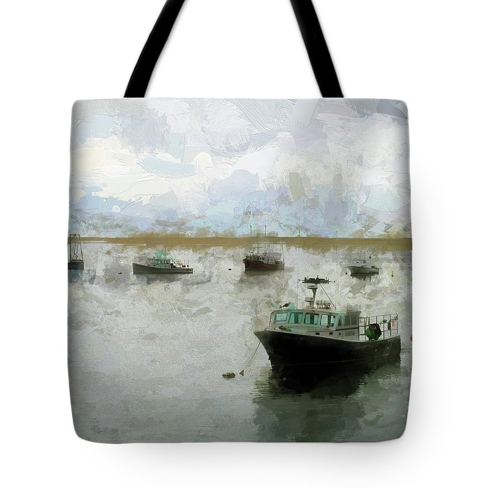 Tote Bag featuring the digital art Summer On Cape Cod Xxix by Tina Baxter
